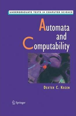 automata and computability kozen homework solutions