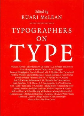 Typographers on Type