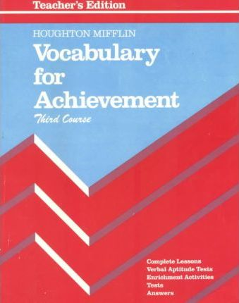 Vocabulary for Achievement 3rd Course Grade 9