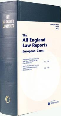 All England European Cases Set 1995 to Date 1995-2007