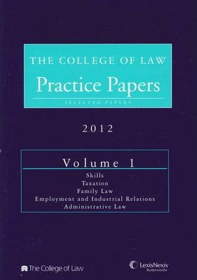 The College of Law Practice Papers NSW 2012