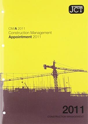 JCT: Construction Management Appointment 2011