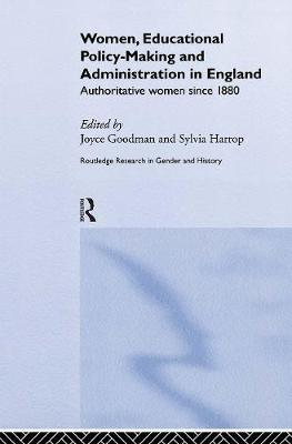 women educational policy making and administration in engl and goodman joyce harrop sylvia
