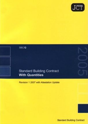 JCT: Standard Building Contract With Quantities