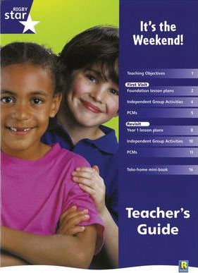 Rigby Star Shared Reception Non-Fiction: It's the Weekend Teachers Guide