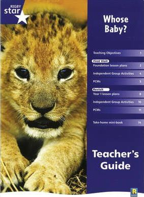 Rigby Star Shared Reception Non-Fiction: Whose Baby? Teachers Guide