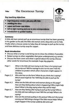 Literacy Edition Storyworlds 1 the Enormous Turnip Guided Reading Card