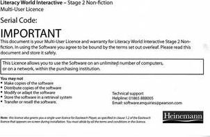 Literacy World Interactive Stage 2 Non-Fiction Multi User Pack Version 2 Framework