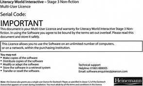 Literacy World Interactive Stage 4 Non-Fiction Multi User Pack Version 2 Framework