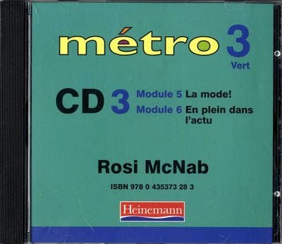 Metro 3 Vert Audio CD 3 Revised Edition