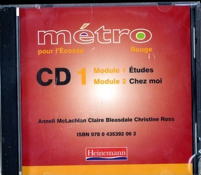 Metro Pour L'Ecosse Rouge Audio CD Pack of 4