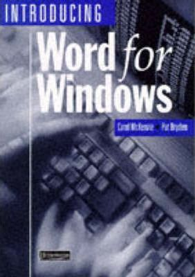 Introducing Word For Windows