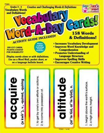 Vocabulary Word-A-Day Cards! Resource Guide!