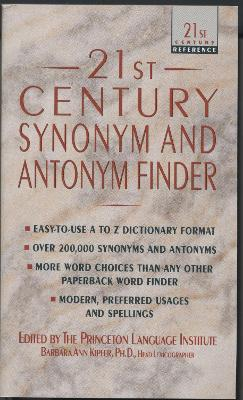 21st Century Synonym and Antonym Finder
