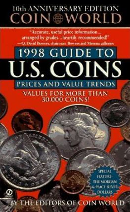 1998 Guide to U.S Coins Prices Values And Trends