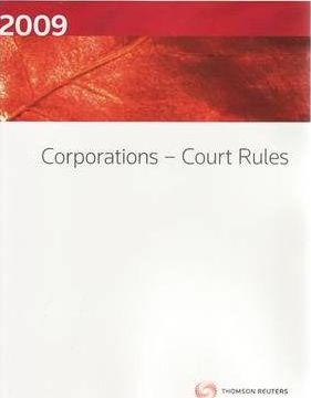 Corporations - Court Rules 2009