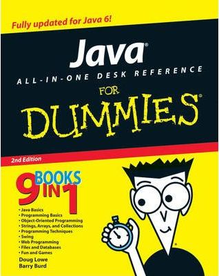 Java All In One Desk Reference For Dummies Barry Burd 9780470124512