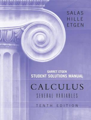 student solutions manual to accompany calculus several variables rh bookdepository com student solutions manual for calculus a complete course 9/e student solutions manual for calculus and its applications pdf