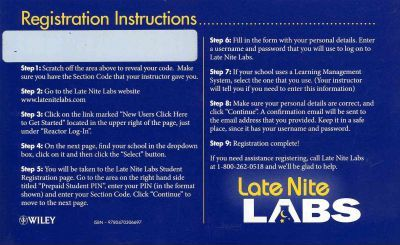 Laboratory Manual for Principles of General Chemistry, Late