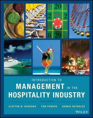 Introduction to Management in the Hospitality Industry 10E