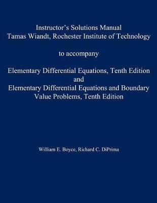 Instructor's Solution Manual to Accompany Elementary Differential Equations AND Elementary Differential Equations