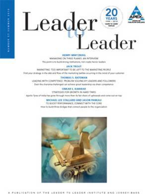 Leader to Leader (LTL), Volume 57, Summer 2010