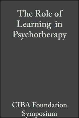 The Role of Learning in Psychotherapy