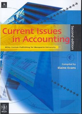 Current Issues in Accounting