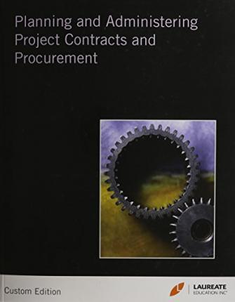 Planning & Administrating Project Contracts & Procurement