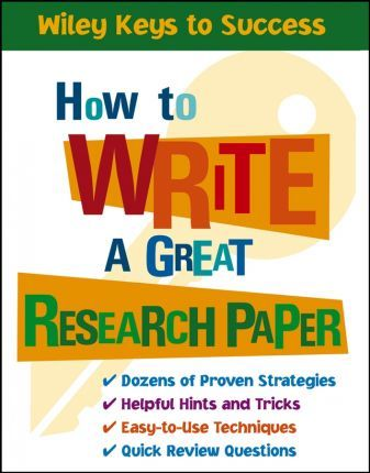 How to Write a Great Research Paper