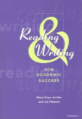 Reading and Writing for Academic Success: Teacher's Manual