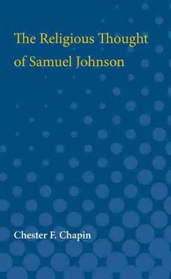 The Religious Thought of Samuel Johnson