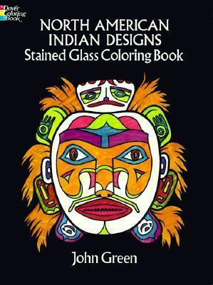 North American Indian Designs Stained Glass Colouring Book