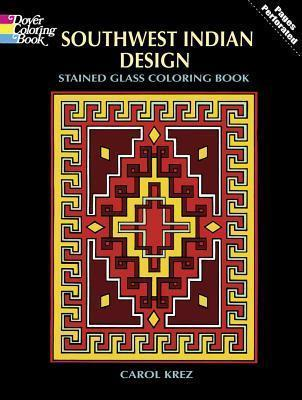 Southwest Indian Design Stained Glass Colouring Book