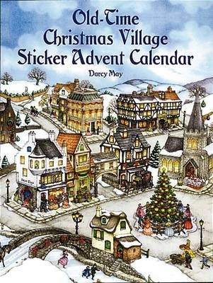 Old-Time Christmas Village Sticker Advent Calendar