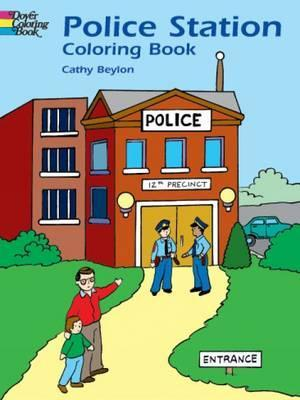 Police Station Colouring Book