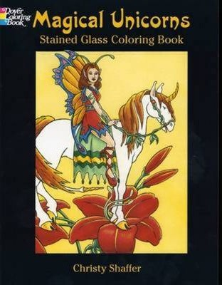 Magical Unicorns : Stained Glass Coloring Book