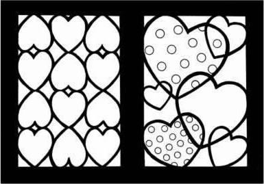 Hearts Stained Glass Coloring Book : Cathy Beylon : 9780486438443