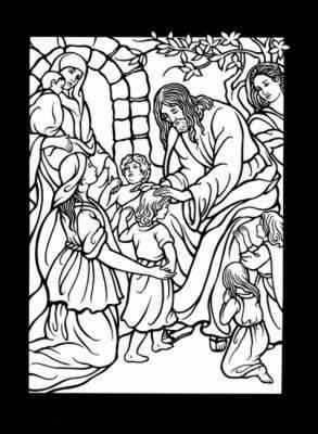 The Life of Jesus Stained Glass Coloring Book : Marty Noble ...