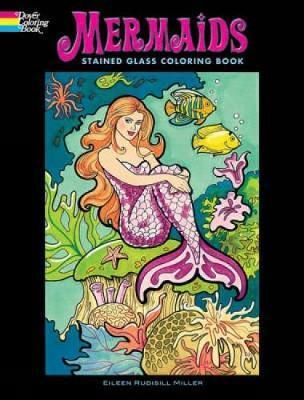 Mermaids Stained Glass Coloring Book
