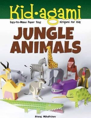 Kid-agami -- Jungle Animals: Kirigami for Kids: Easy-to-Make