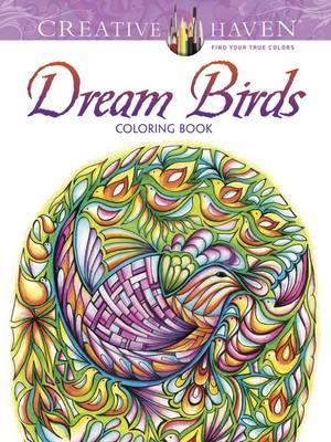 Creative Haven Dream Birds Coloring Book Cover Image