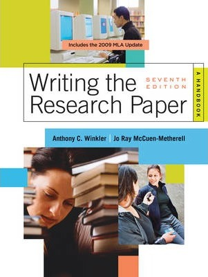 Writing the Research Paper 2009  A Handbook 2009