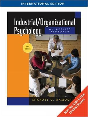 aamodt industrial organizational psychology pdf