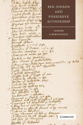 Ben Jonson and Possessive Authorship