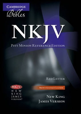 NKJV Pitt Minion Reference Edition NK446XR Brown Goatskin Leather