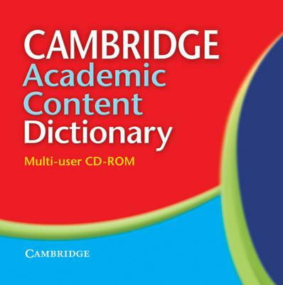 Cambridge Academic Content Dictionary Multi-user CD-ROM