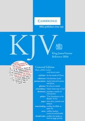 KJV Concord Reference Edition Red Letter with Concordance and Dictionary Black calfskin, thumb index RCD267:IX
