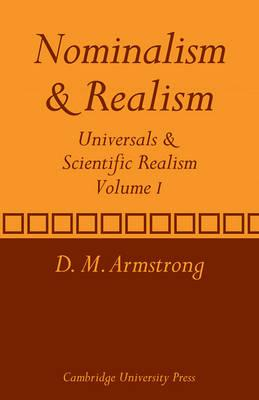Nominalism and Realism: Volume 1