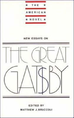 The American Novel New Essays On The Great Gatsby  Matthew J  The American Novel New Essays On The Great Gatsby